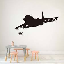 34 unique airplane wall decor design ideas of airplane wall decals