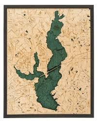 Lake Conroe Nautical Chart Lake Ray Hubbard Tx Wood Chart Lake Maps Map Lake
