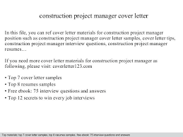 Construction Project Manager Cover Letter Thumbnail Construction