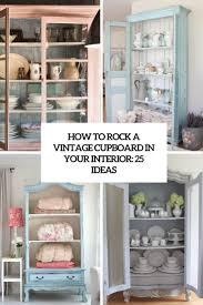 Wie Man Einen Vintage Schrank In Ihrem Interieur Rockt