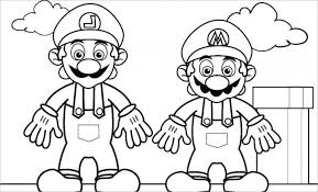 Baby Mario And Luigi Coloring Pages Page Print Pr Brothers Super