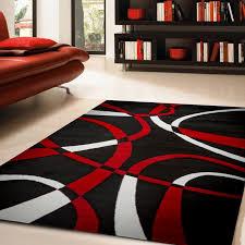 black and red area rugs elegant zipcode design katelynn white rug reviews wayfair for 5