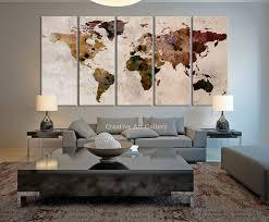 world map wall art ideas