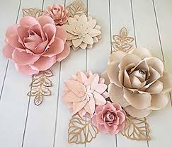 Pink Paper Flower Decorations