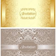Golden Invitation Card Design Invitation Card Design In Gold And Silver Colors Stock