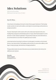 Professional Stationery Template Grey Abstract Curves Professional Letterhead Templates By Canva
