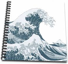 Learn how to draw tsunami simply by following the steps outlined in our video lessons. Amazon Com 3drose Db 130659 1 Tsunami Ocean Wave Japan Drawing Book 8 By 8 Inch Arts Crafts Sewing