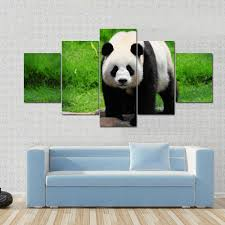 panda eye contact canvas panel painting tiaracle on panda canvas wall art with panda eye contact multi panel canvas wall art tiaracle