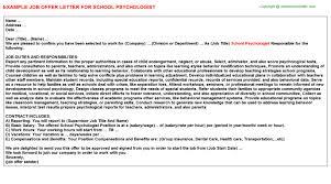 School Psychologist Career Samples