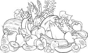 Fruits And Vegetables Coloring Pages Pictures Of Fruits And
