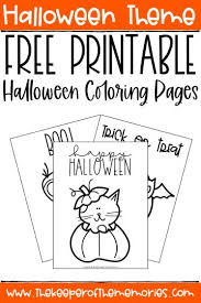 Let them use their creative skills to. Free Printable Halloween Coloring Pages The Keeper Of The Memories