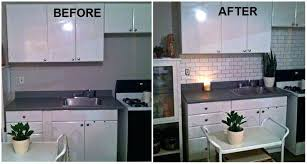 can you paint tile backsplash faux subway tile using a brick stencil from how to paint can you paint tile