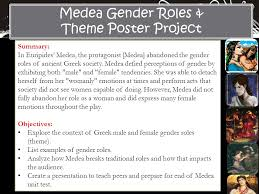 medea gender roles theme poster project summary ppt video medea gender roles theme poster project summary