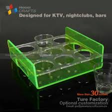 china for 9cup clear acrylic wine glass holder tray lucite kitchen plate drink beverage cup