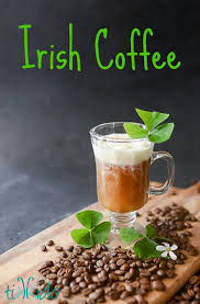 irish coffee is the perfect hot drink to warm you up on a cold winter day