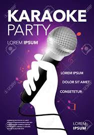 invitation flyer vector karaoke party invitation flyer poster banner design template