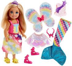 2019 New Original Mini Barbie Dreamtopia Cầu Vồng Cove Chelsea Bộ Nàng Tiên  Cá Cô Gái Đồ Chơi cho Trẻ Em Chính Hãng Barbie Búp Bê Cô Gái Đồ Chơi|Búp Bê