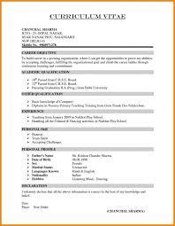 Resume Declaration Format It Resume Cover Letter Sample