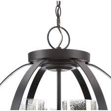 seagull 3110404 715 sfera 4 light autumn bronze chandelier with mercury glass shade