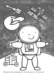 Download Kleurplaat Thema Ruimte Space Outer Space En Astronaut