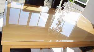 glass top to protect wood table