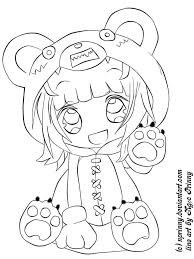 Chibi Pictures To Color Inside Cute Anime Coloring Pages Drawing