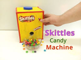 Create The Rainbow Skittles Vending Machine Fascinating How To Make Skittles Candy Machine YouTube