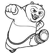 Kleurplaat Kung Fu Panda 4032
