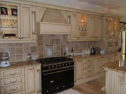 maple kitchen cabinets backsplash. White Door With Country Cottage Kitchens U Shaped Maple Wood Kitchen Cabinets Cool Square Patterned Tiles Floors Blue Backsplash Old Style