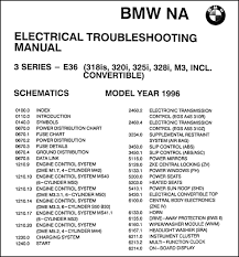 1996 bmw 318is 320i 325i 328i c m3 electrical troubleshooting manual this manual covers us and canadian 1996 bmw 318is c 320i 325i c 328i c and m3 models this book is in good used condition measures 11 in x 8 5 in