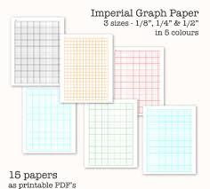 15 Imperial Measure Graph Papers Digital Graph Paper Pdf Printable