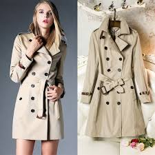 new arrival 2016 fashion british middle long double ted trench coat designer genuine leather belt