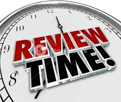 Words For Employee Evaluation Review Time Words In 3d Letters On A Clock Face To Remind