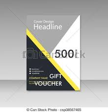 Clipart Coupon Template Gift Voucher Certificate Coupon Template Vector Cover Clip Art
