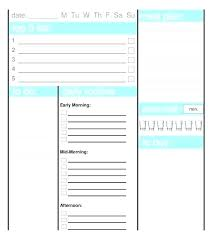 Daily Planner Excel Template Printable Daily Planner Template Excel