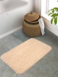 off quick view s9home by seasons premium quality microfiber polyester plain beige anti skid bath mat