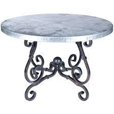 Zinc Dining Table French M5 F 502 03 French Dining Table With Round Top Multiple Sizes