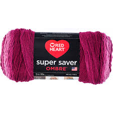 Red Heart Yarn Conversion Chart Red Heart Super Saver Ombre Anemone Yarn 482 Yd Walmart Com
