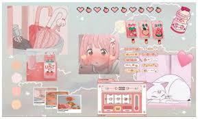 peach aesthetic desktop wallpaper ...