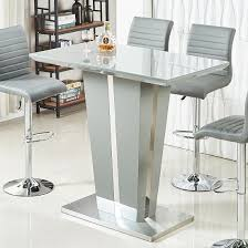 memphis glass bar table in high gloss