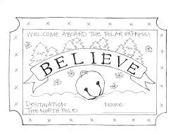 Polar Express Coloring Sheet Polar Express Coloring Pages To