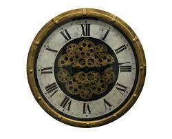 large black skeleton wall clock