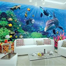 large underwater wall art