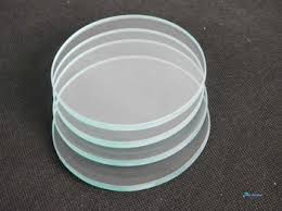 New 6mm thick tempered clear glass drink coasters with no feet