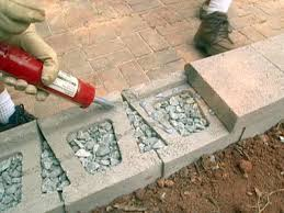 Seating Wall Blocks How To Build A Block Retaining Wall How Tos Diy