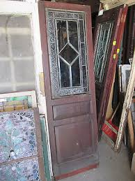 1 of 10 antique stained glass pantry door mahogany 25 x 80 architectural salvage