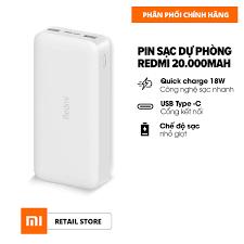 Shop bán [HÀNG CHÍNH HÃNG] Sạc dự phòng Xiaomi Redmi 20.000mAh - Sạc nhanh  Max 18W - Input: Micro USB & Type-C / Output: USB-A x2