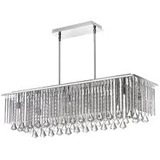 radionic hi tech jacqueline 10 light polished chrome crystal horizontal chandelier