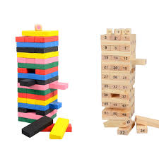How To Play Tumbling Tower Wooden Block Game 100cm Large Wooden Tower Wood Toy Domino Stacker Extract Figure 19