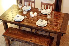 image of luxury wood dining table